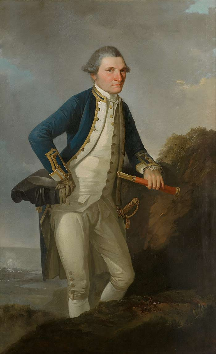 Portrait of Captain James Cook, circa 1780, England, by John Webber. Gift of the New Zealand Government, 1960. Te Papa (1960-0013-1)