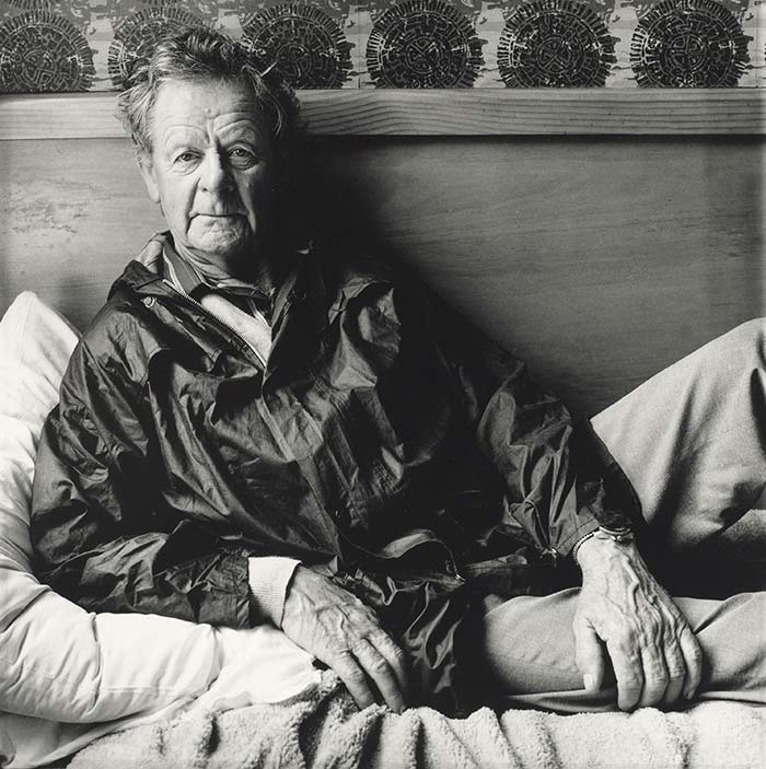 Toss Woollaston, Auckland, 1986. From the series: Artists' portraits., 1986, Auckland, by Adrienne Martyn. Purchased 1988. Te Papa (O.003810)