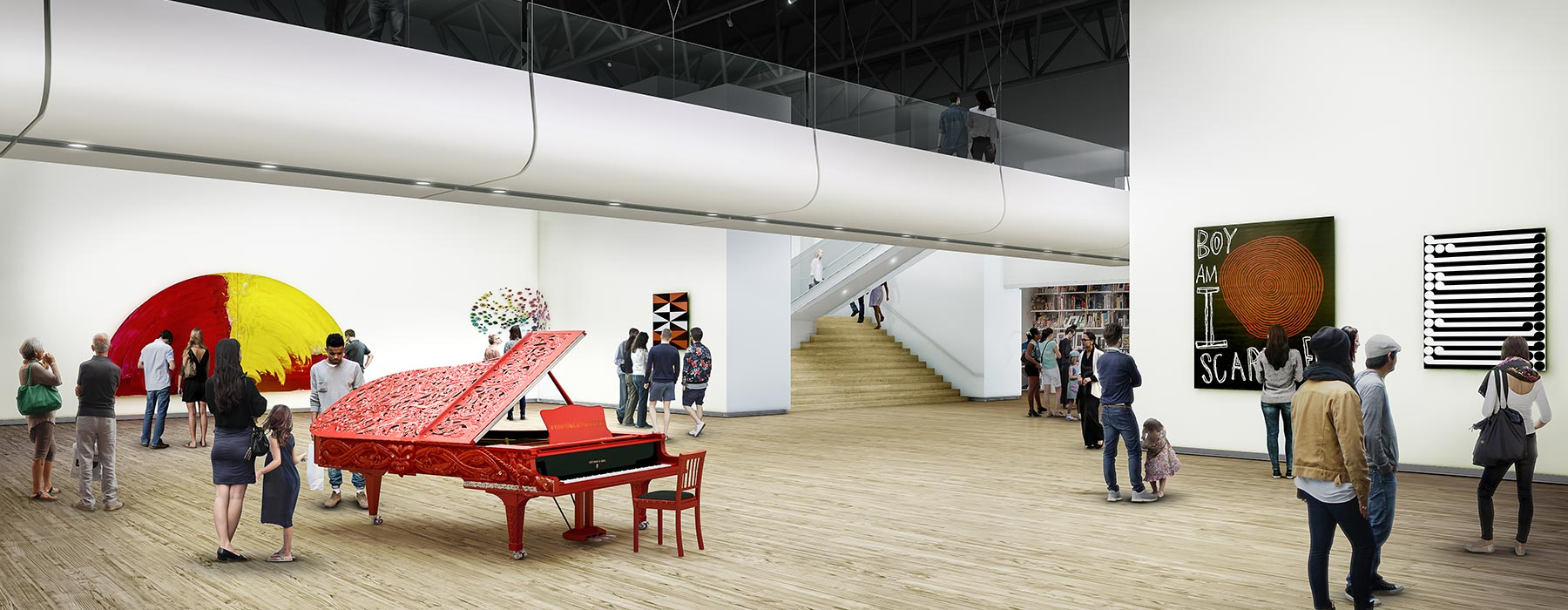 Rendering of new art space