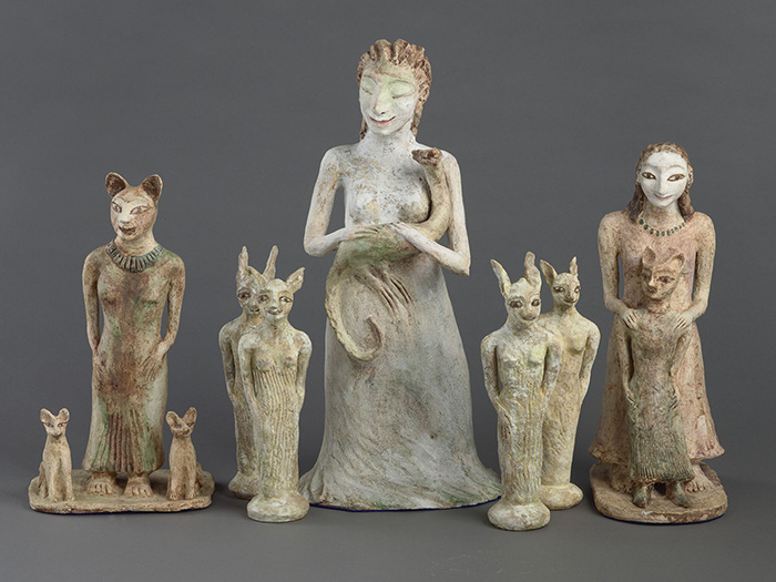 A selection of ceramic figures