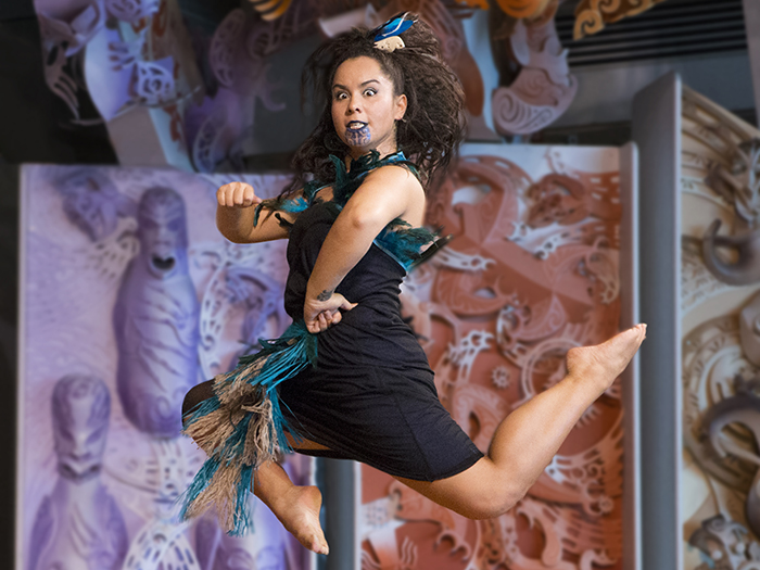 Whitireia performing arts dancer on Te Marae