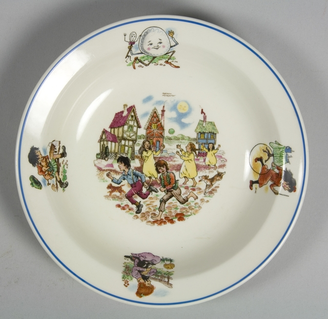 Nurseryware plate by Crown Lynn
