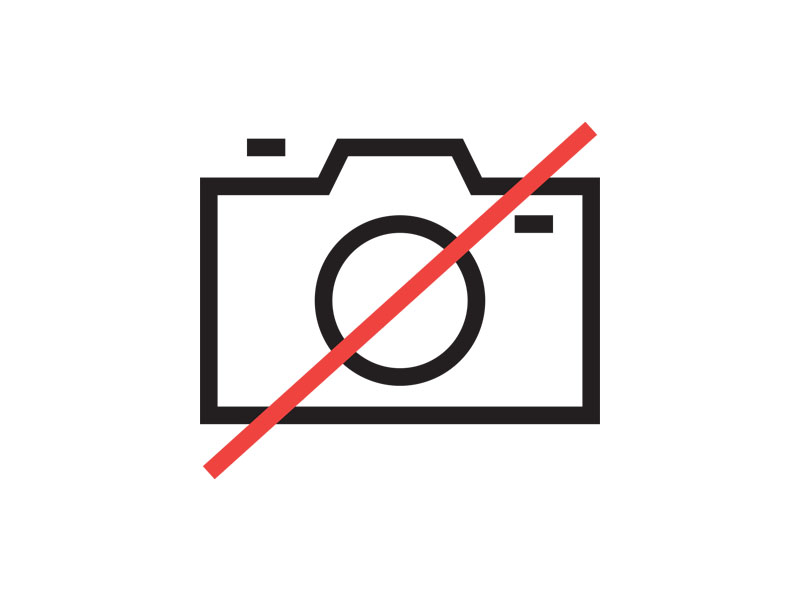 Graphic of a camera with a red line across it indicating no photography allowed