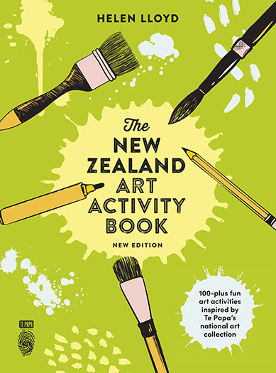 The New Zealand Art Activity Book front cover