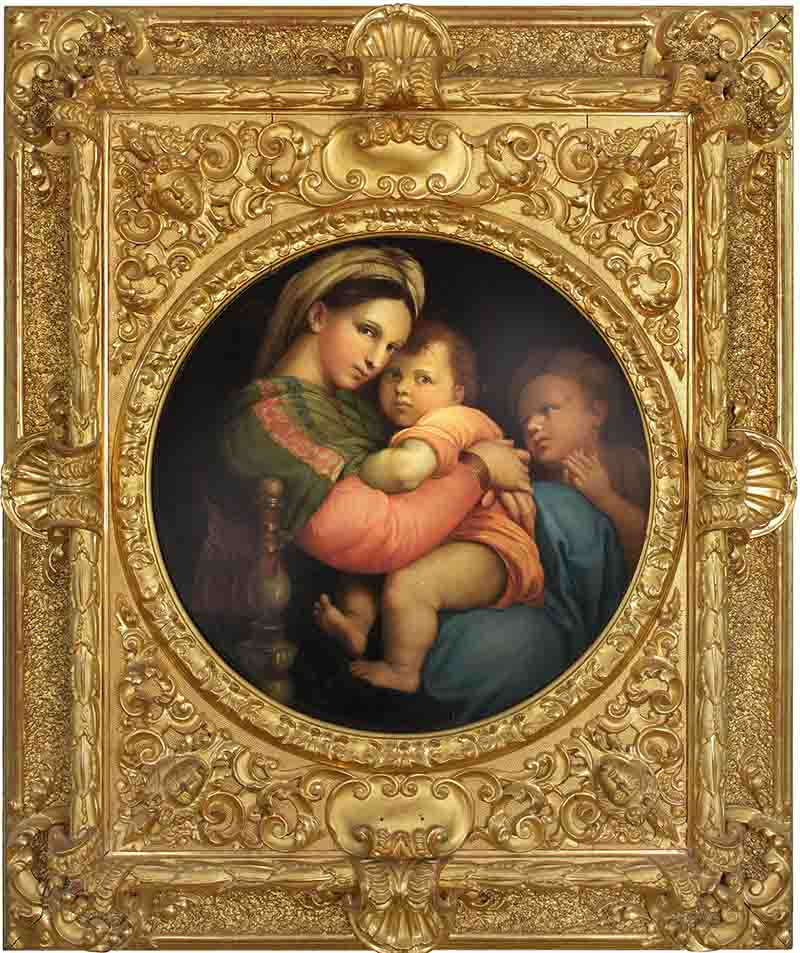 Image of The Madonna in an ornate guilded frame