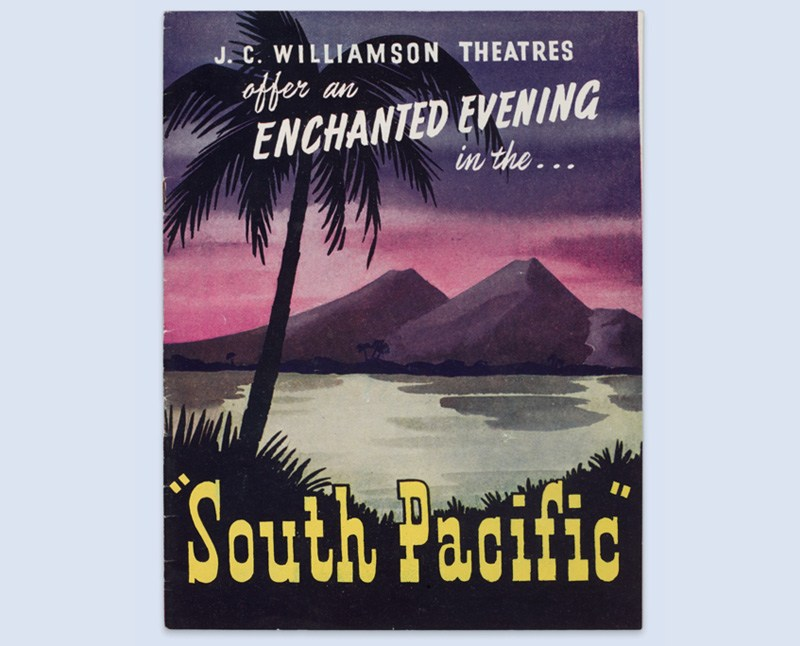 Programme for a 1950s production of South Pacific