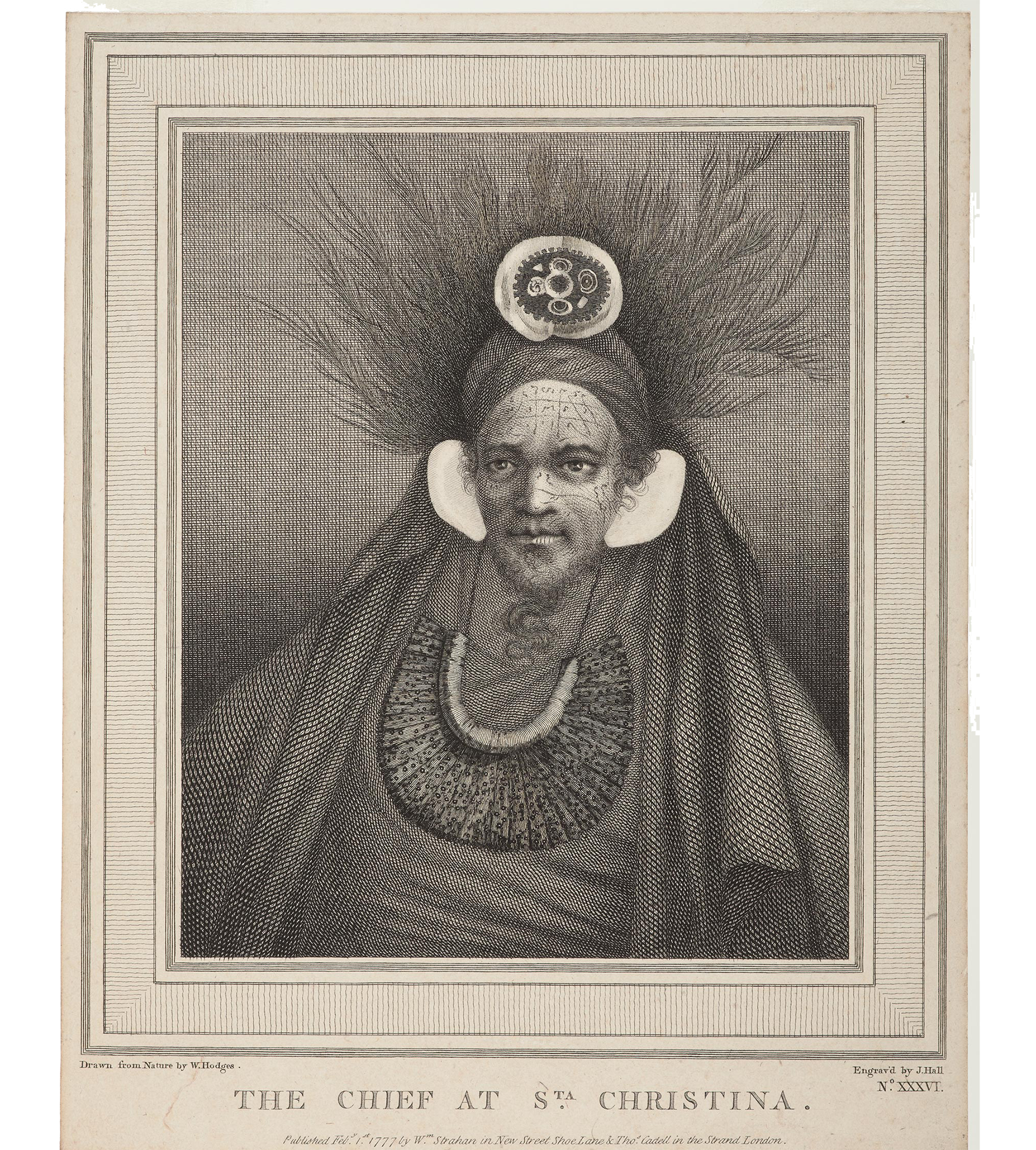 Engraving of chief
