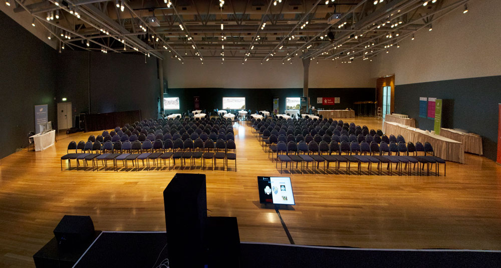 Large room set up for presentation