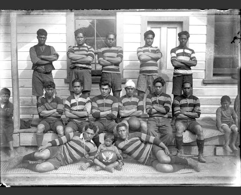 The proud Kia Ora rugby team members