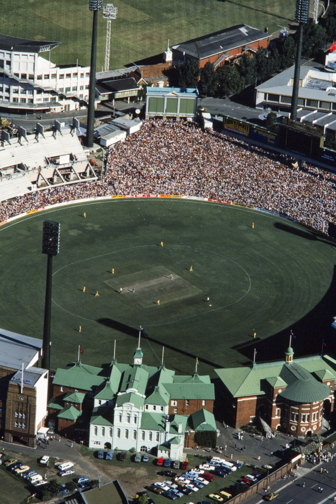 Aerial view of the Sydney Cricket Ground