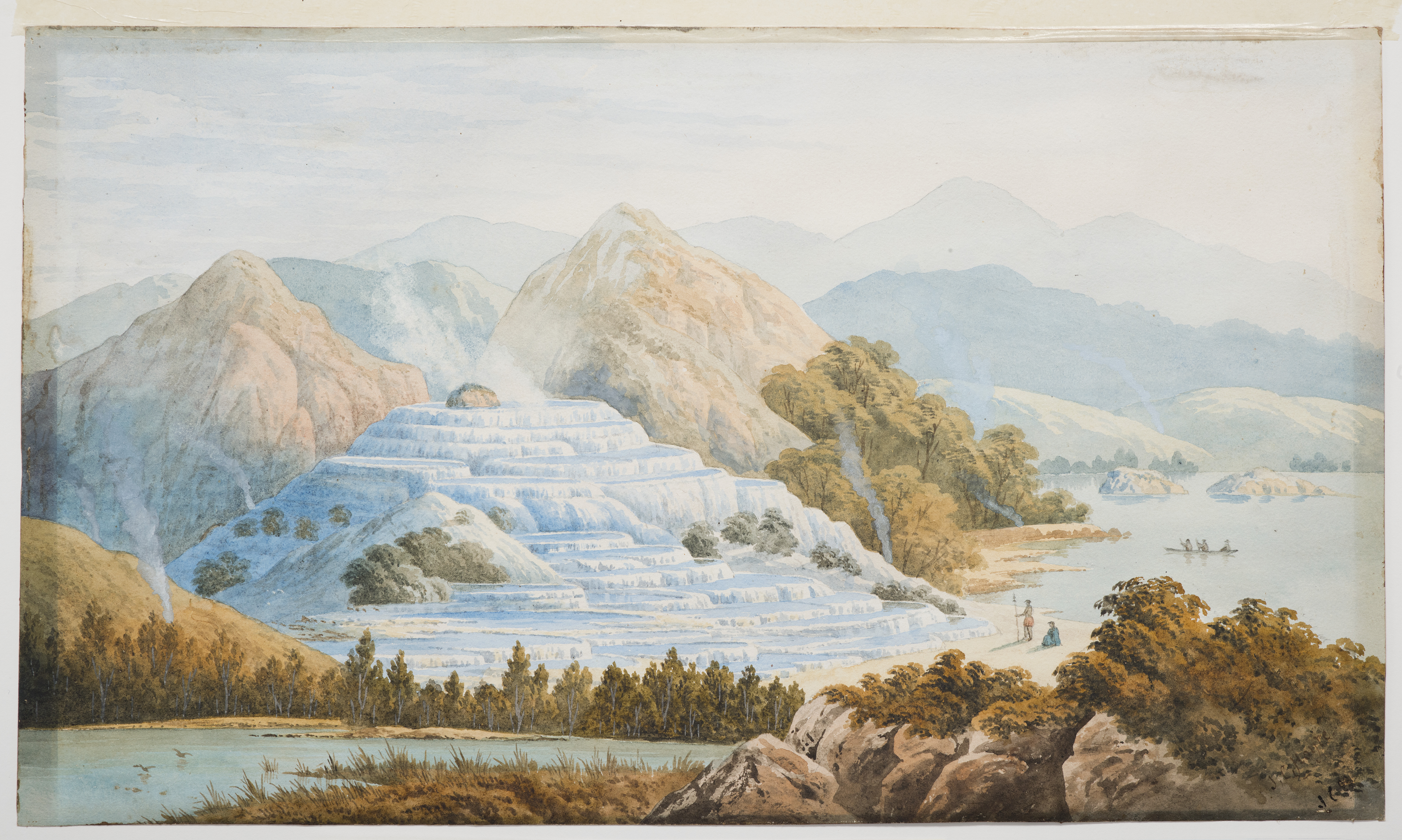 Watercolour of the terraces