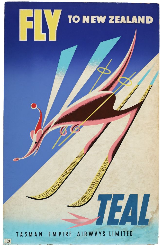 Poster titled Fly to New Zealand for TEAL