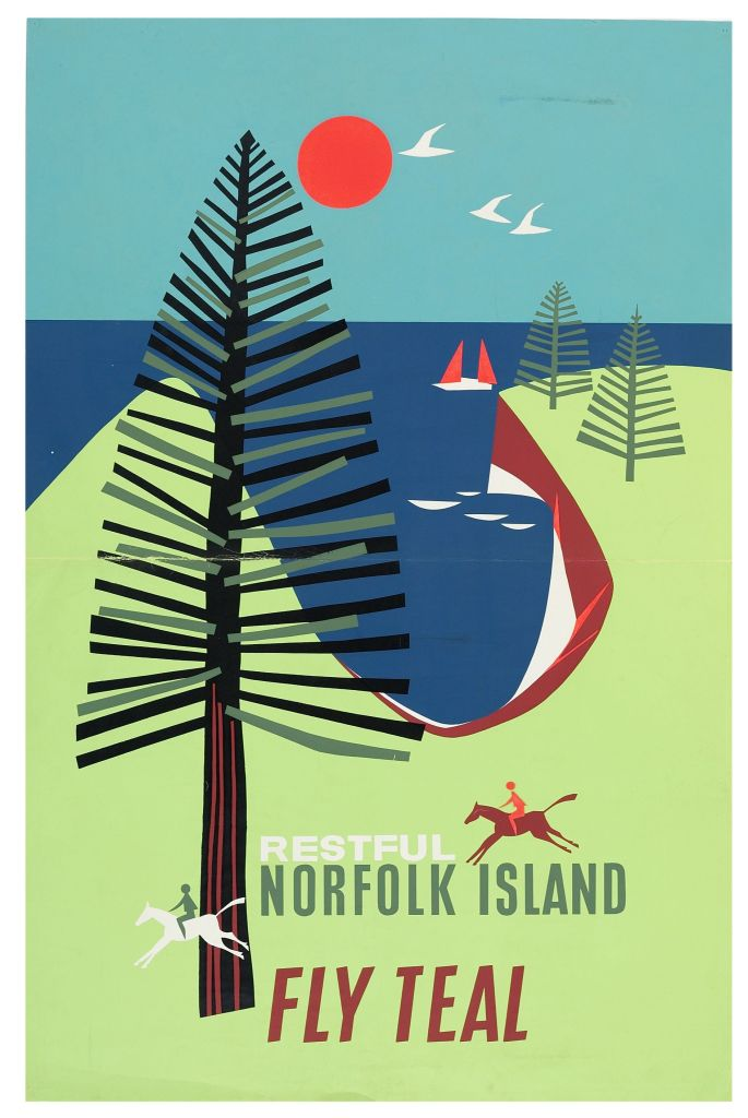 Poster titled Restful Norfolk Island for TEAL