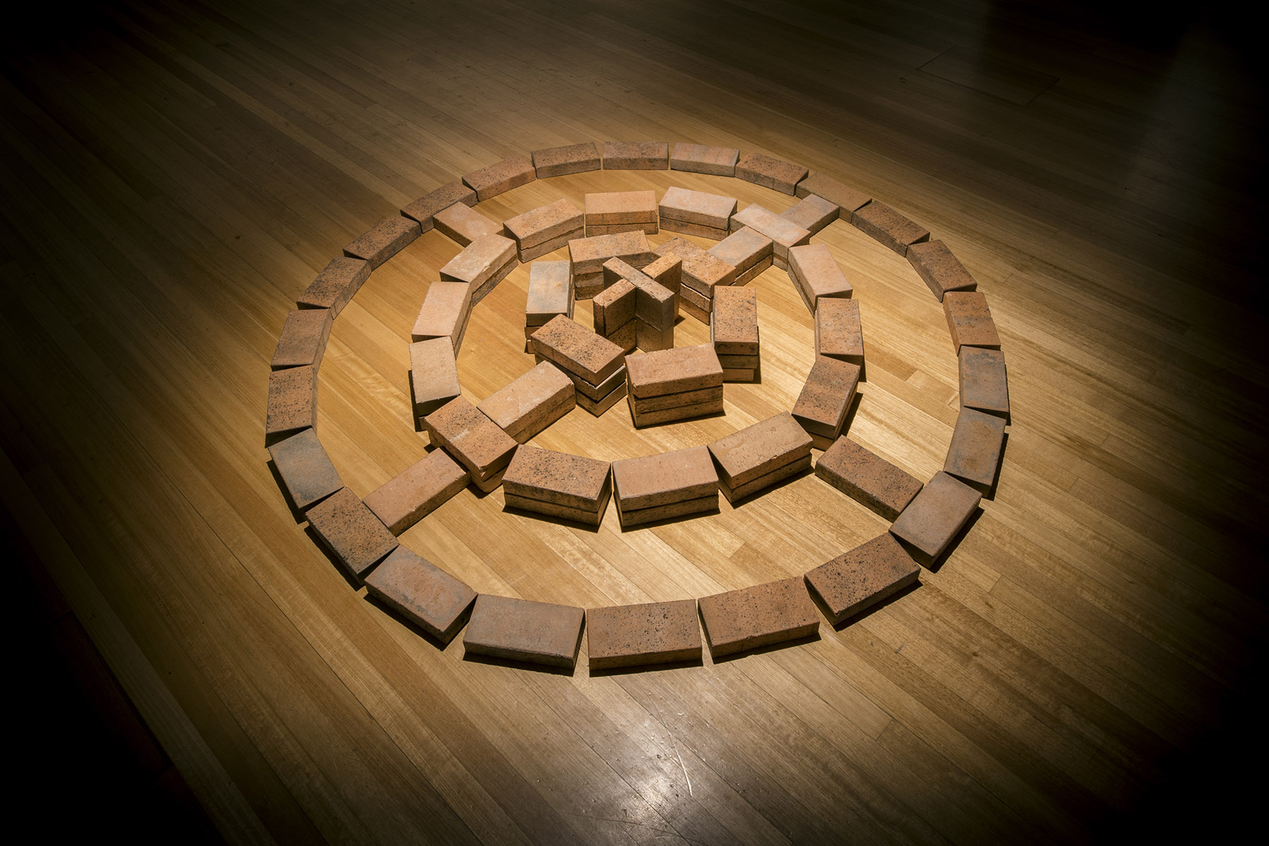 Bricks on the floor in the shape of a circle