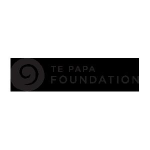 Te Papa Foundation black and white logo