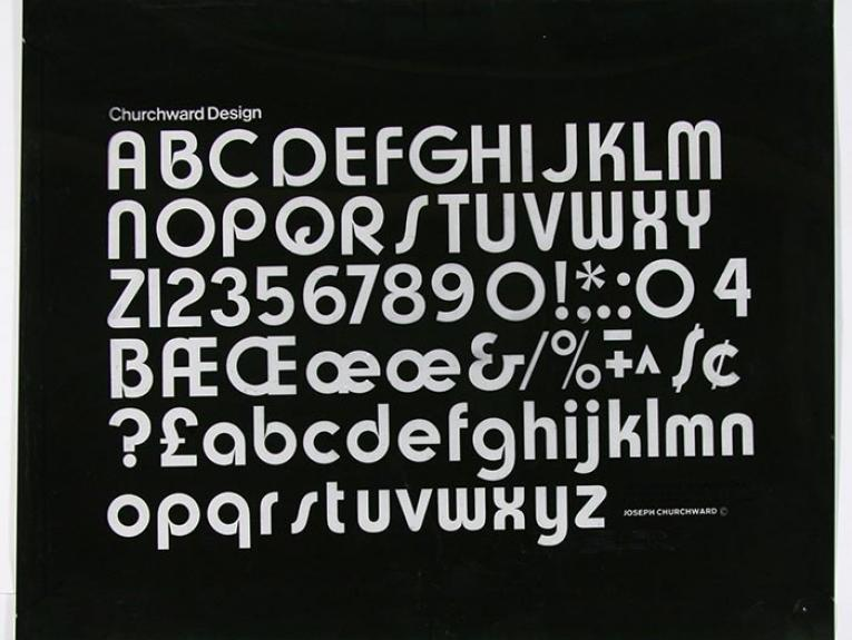 Churchward Design Print Negative, New Zealand, by Joseph Churchward. Purchased 2008. Te Papa (FE012229/1)