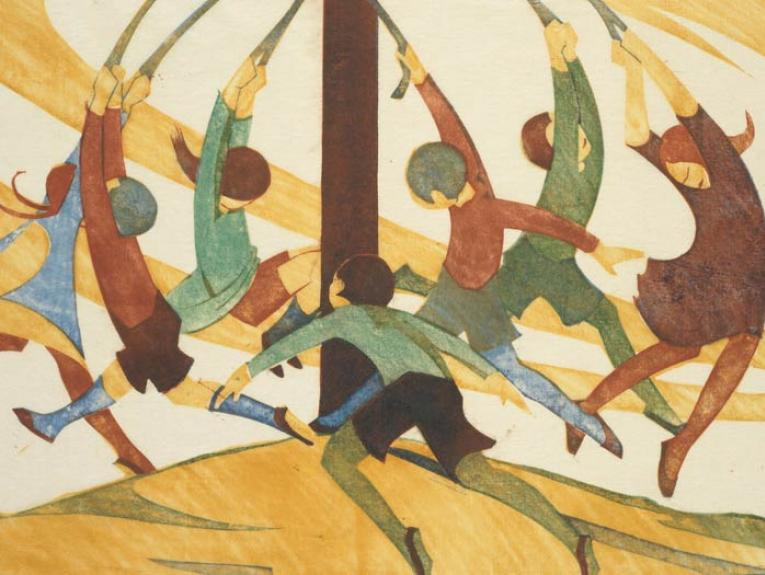 The giant stride, 1933, by Ethel Spowers. Gift of Rex Nan Kivell, 1953. Te Papa (1953-0003-325)