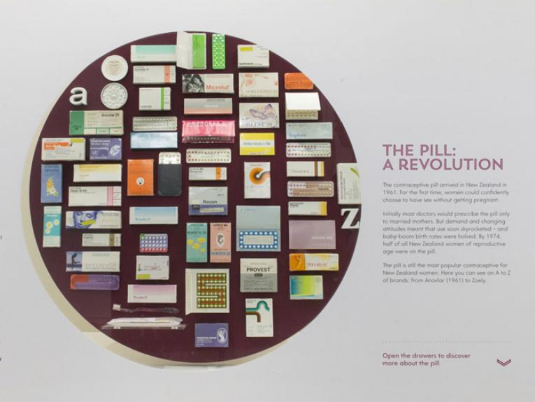 Contraception: Uncovering the collection of Dame Margaret Sparrow, 2015. Photograph by Kate Whitley. Te Papa