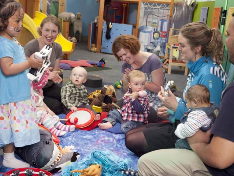 Party in StoryPlace. Photograph by Norm Heke. Te Papa