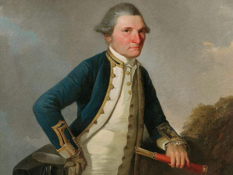Oil paint portrait of Captain James Cook