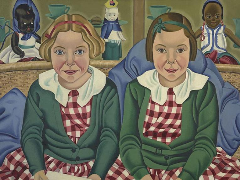 Painting of two children