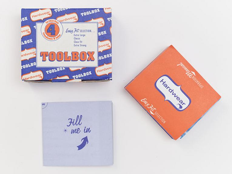 Toolbox condoms and lube