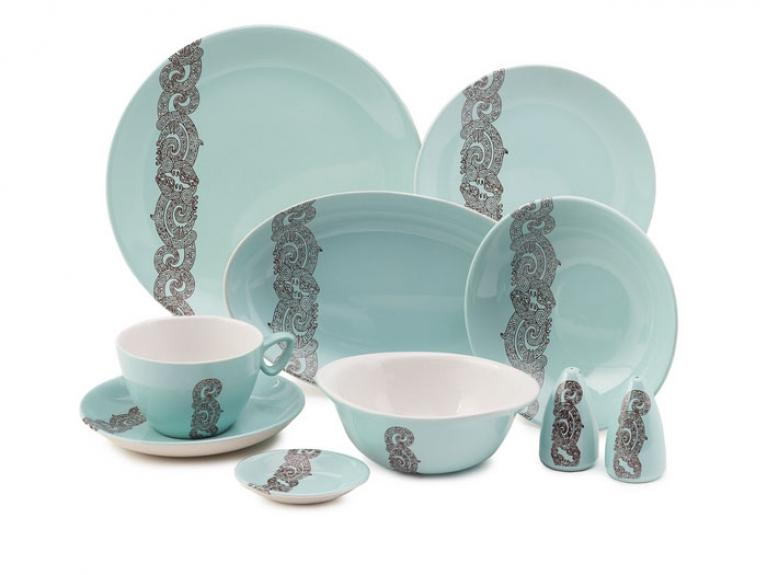 Air New Zealand dinner set by Crown Lynn