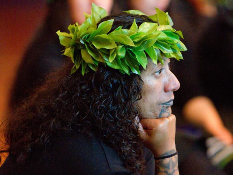 Repatriation ceremony, 2015. Photograph by Michael Hall. Te Papa