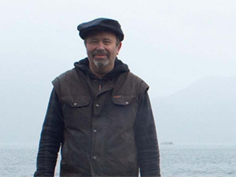 Dougal Austin on NE Point, Mamaku (Indian Island), 2016