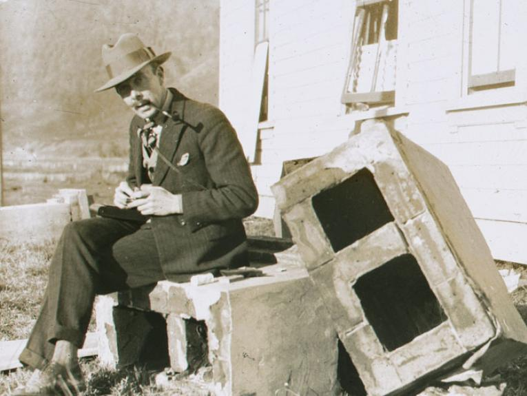 New Zealand Landscape Scene : Council Chambers, Murchison, circa 1929, New Zealand, maker unknown. Te Papa (LS.003750)