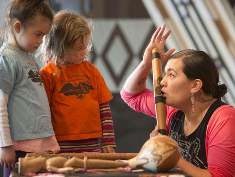 ECE Matariki visit, 2015. Photograph by Kate Whitley. Te Papa