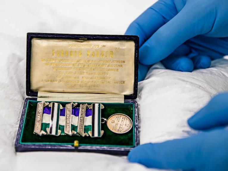 Frances Parker's bravery medal