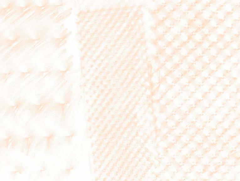 Close up of three rubbings, showing the texture of the item rubbed against