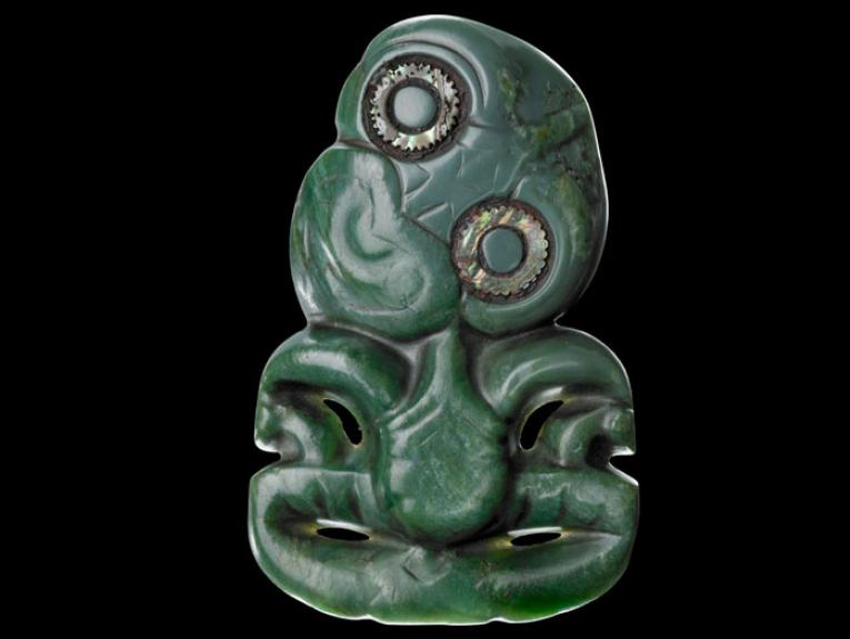 Jade pendant in a human form