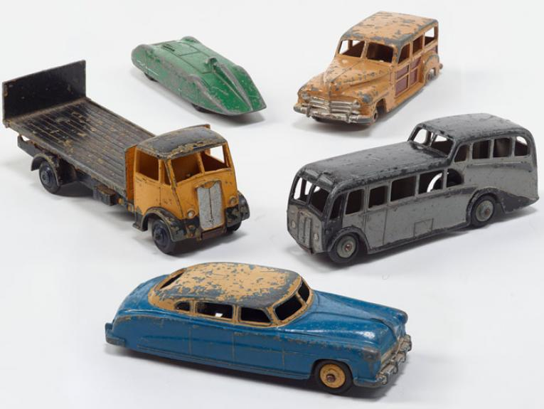 Model Vehicles, circa 1950, by Meccano. Gift of Mrs K Major, 1985. CC BY-NC-ND licence. Te Papa (GH003501/6)