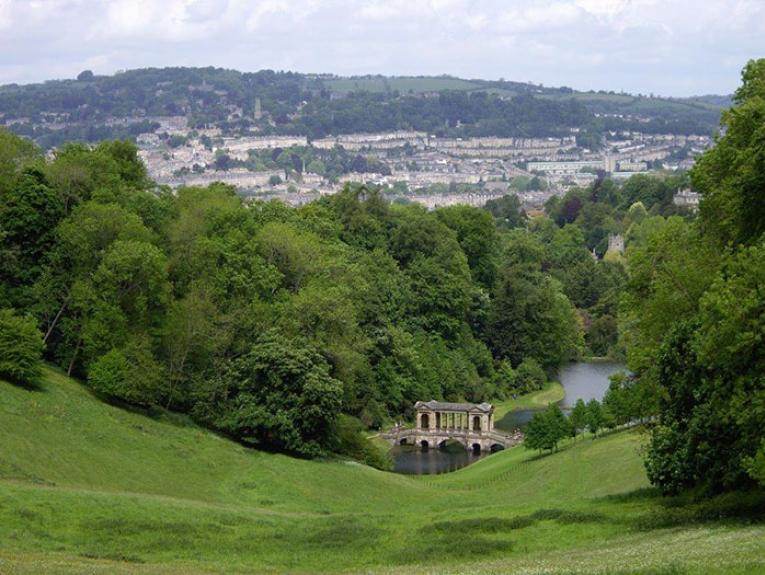 Bath and Palladian Bridge Prior Park