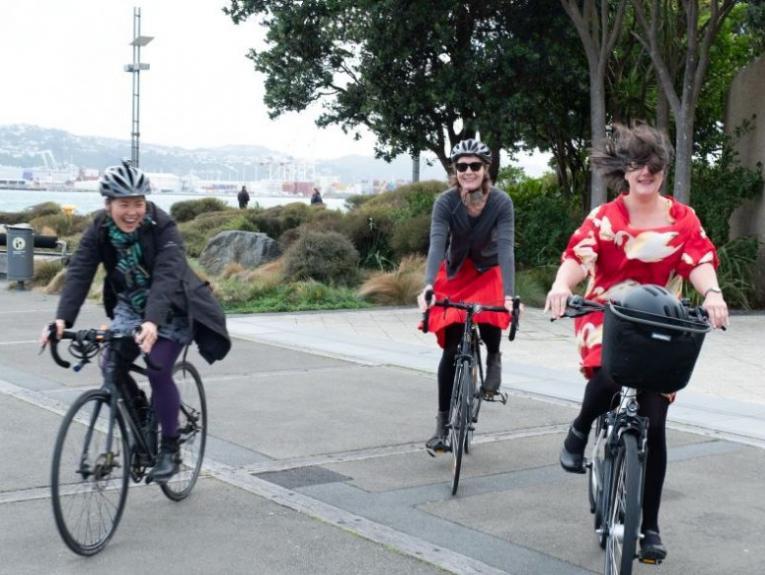Ladies on bikes