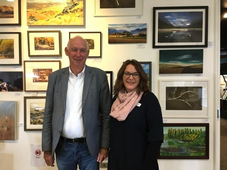 Manager Brian Budd and Front of House Host/Administrator Mandy Clearwater from Central Stories in Alexandra were one of the recipients of round one of the Museum Hardship Fund. Photo: Judith Taylor