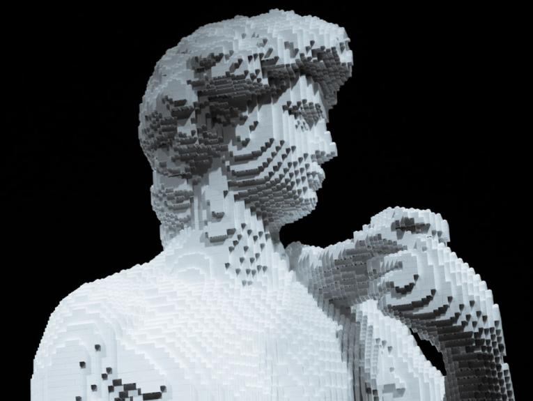 Lego copy of the Statue of David
