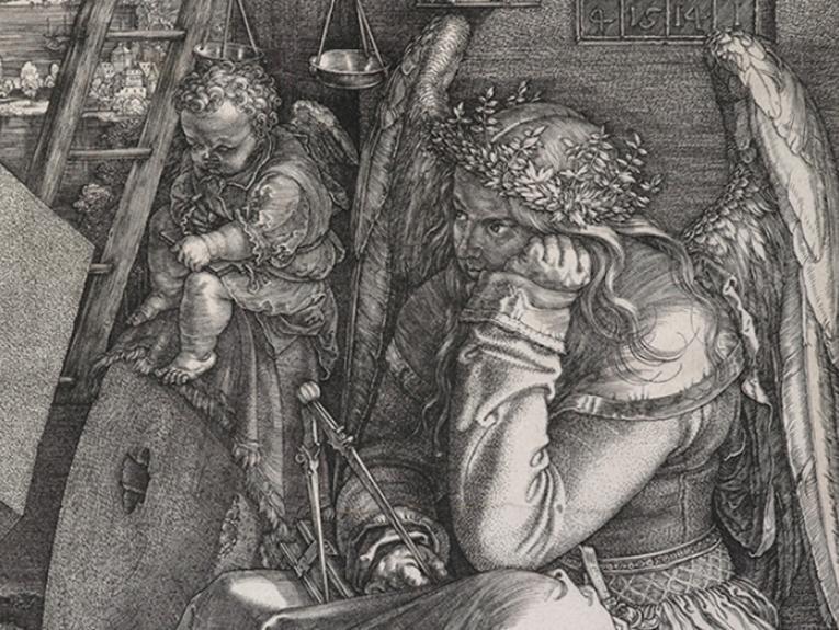 Detail from Dürer's print Melencolia I
