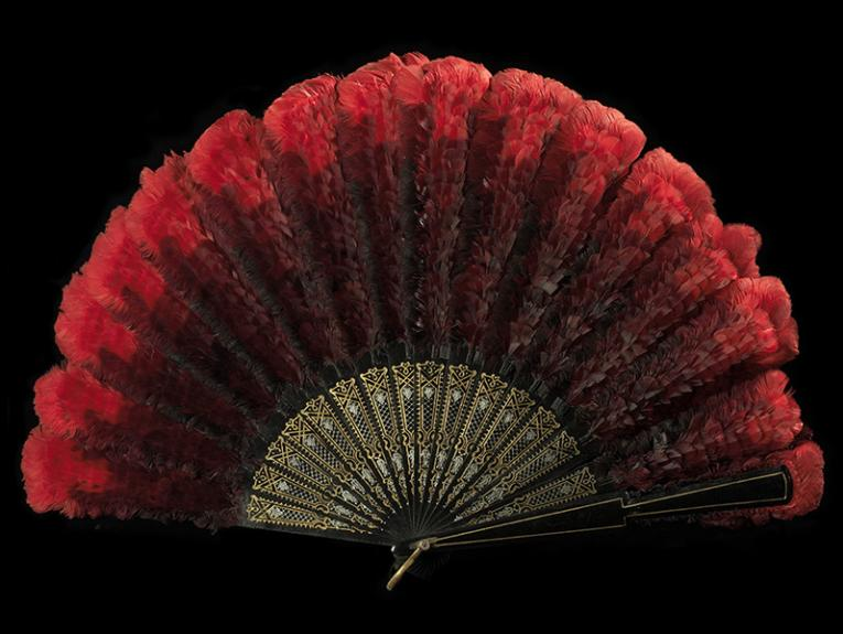 A bright red feather