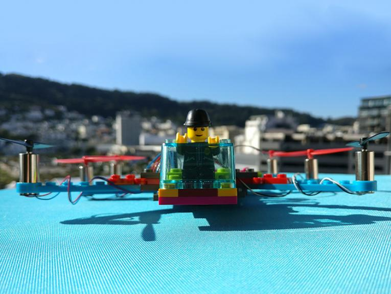 A drone made from Lego