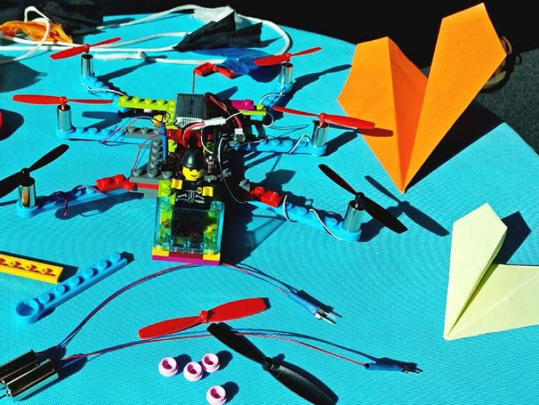 Flying machines created in the Learning Lab