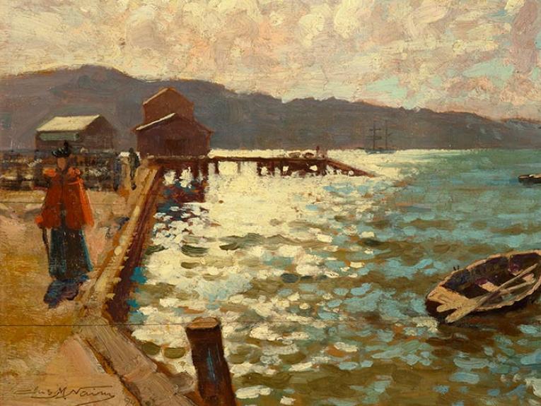 Sparkling harbour scene