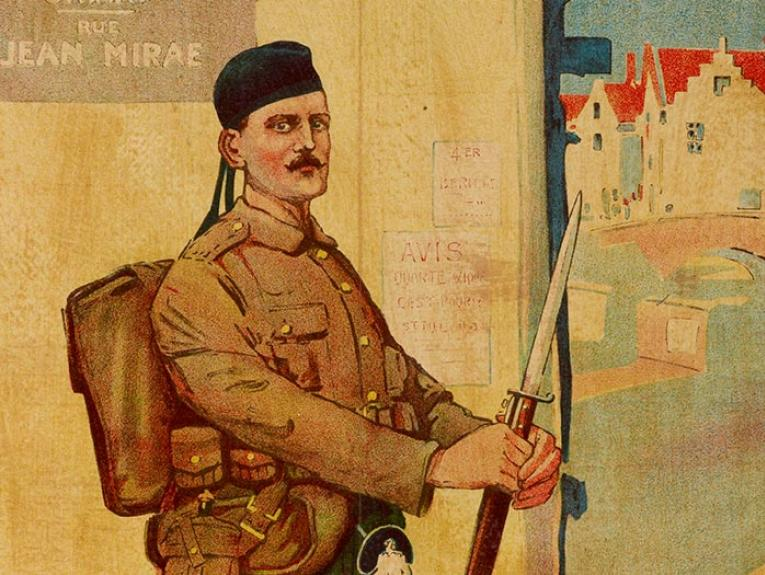 Scottish soldier with bayonet