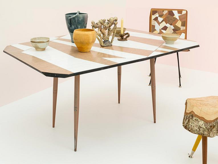 Dining room set up from Gesamtkunsthandwerk