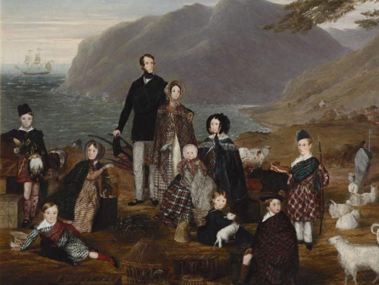 The emigrants, 1844, London, by William Allsworth. Purchased 1992 with New Zealand Lottery Grants Board funds. Te Papa (1992-0022-1)
