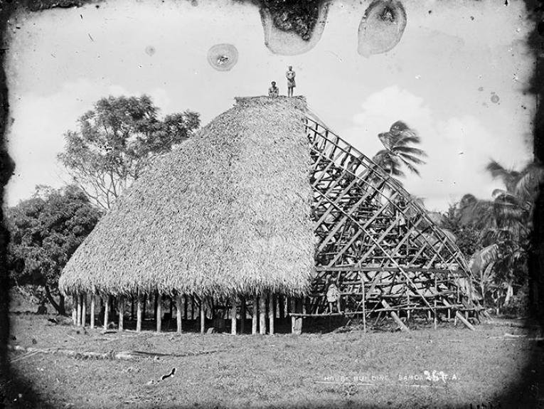 Samoan building under contruction