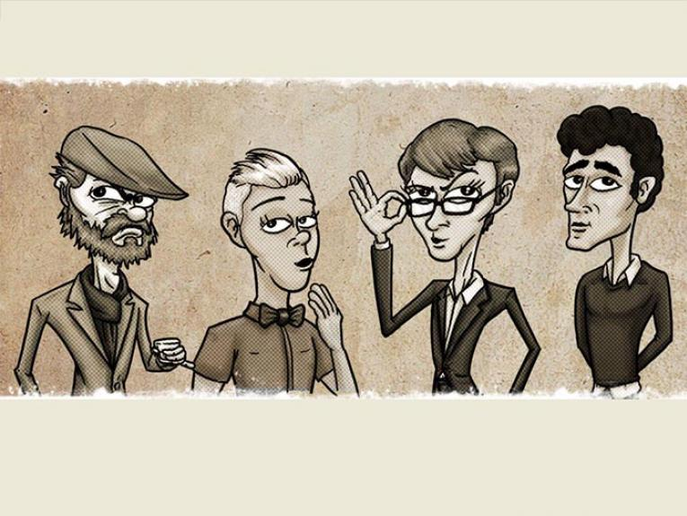 Illustration of the Wellington Pub Poets Society