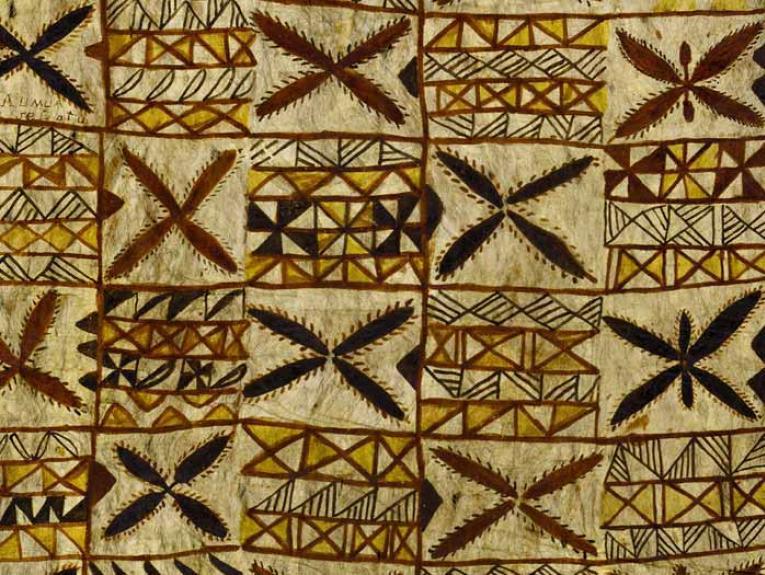 Siapo mamanu (tapa cloth), 1890s, Samoa, maker unknown. Gift of Alexander Turnbull, 1913. Te Papa (FE000825)